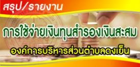 ประกาศการใช้จ่ายเงินทุนสำรองเงินสะสม ครั้งที่ 1 ประจำปีงบประมาณ 2562